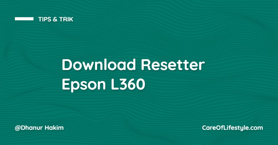 Download Resetter Epson L360