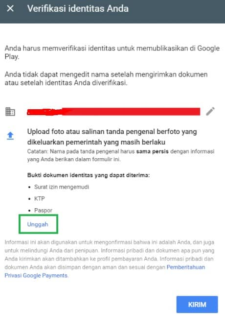 Verifikasi Akun Google Play Developer Console